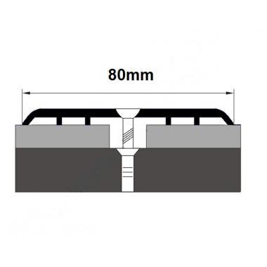 Порог алюминиевый одноуровневый ПА-15 (Серебро глянцевое)