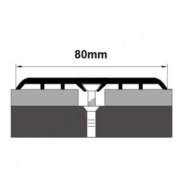 Порог алюминиевый одноуровневый ПА-16 (Серебро матовое)