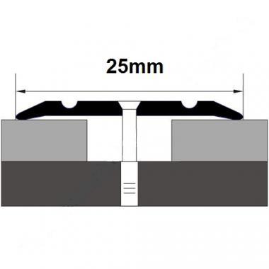 Порог алюминиевый одноуровневый ПА-2 (Золото матовое)
