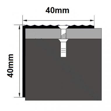 Порог алюминиевый угловой ПА-24 (Бронза матовая)