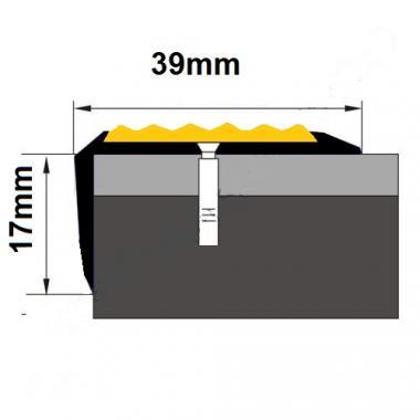 Порог угловой алюминиевый ПА-33 (Золото глянцевое)
