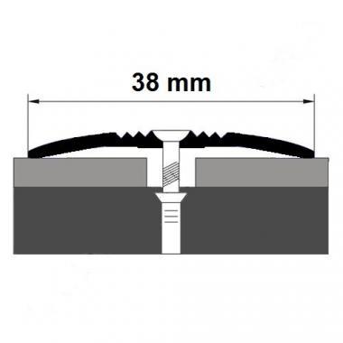 Порог алюминиевый одноуровневый ПА-7 (Серебро глянцевое)