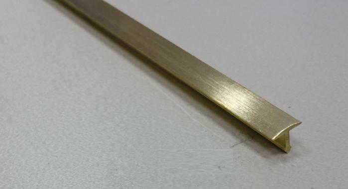 Профиль Т-образный латунный ЛТ-10 (Латунь шлифованная)
