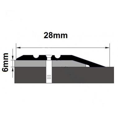 Порог латунный с перепадом В-1 (Латунь полированная)