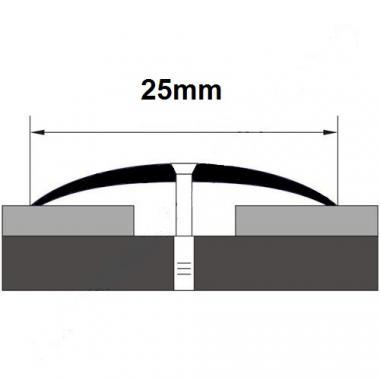 Порог латунный одноуровневый В-10 (Латунь полированная)