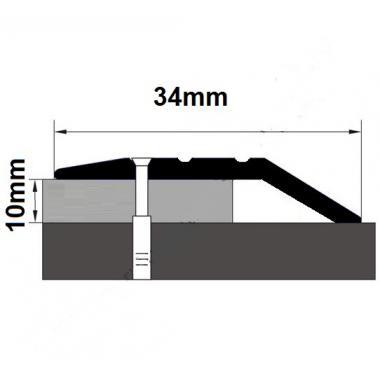 Порог латунный с перепадом В-11 (Латунь полированная)