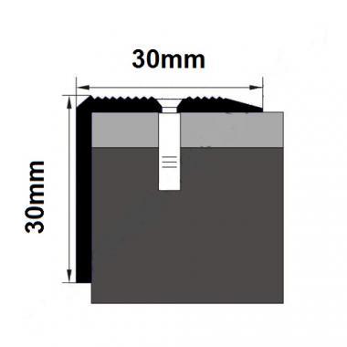 Порог латунный угловой В-13 (Латунь полированная)
