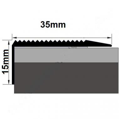 Порог латунный угловой В-17 (Латунь полированная)