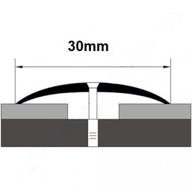 Порог латунный одноуровневый В-3 (Латунь полированная)