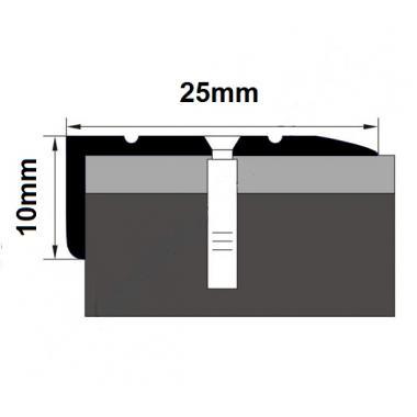 Порог латунный угловой В-5 (Латунь полированная)