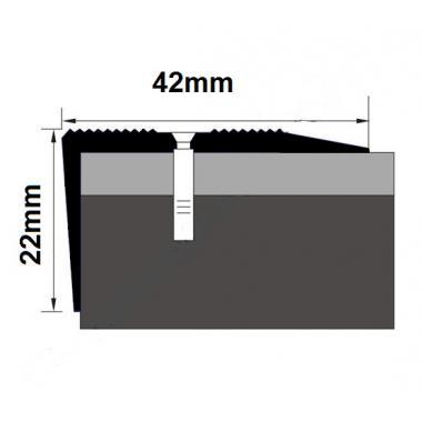 Порог латунный угловой В-6 (Латунь полированная)