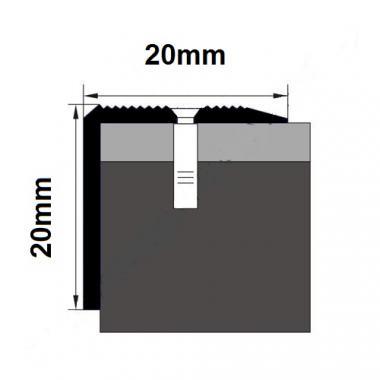 Порог латунный угловой В-7 (Латунь полированная)