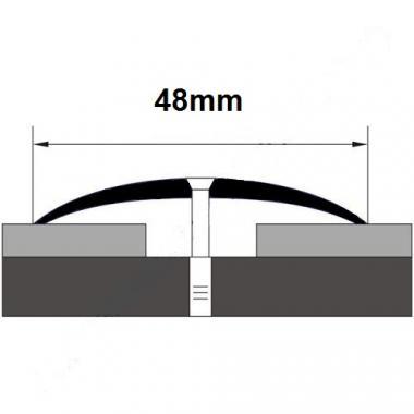 Порог латунный одноуровневый В-8 (Латунь полированная)