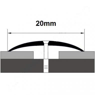 Порог латунный одноуровневый В-9 (Латунь полированная)