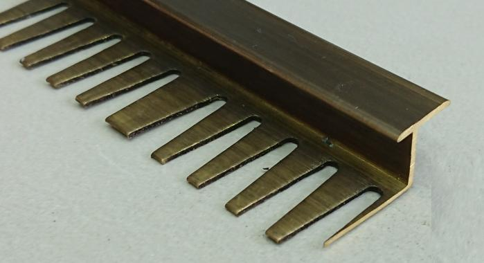 Профиль Z-образный латунный ЛZT-10 (Латунь античная бронза)