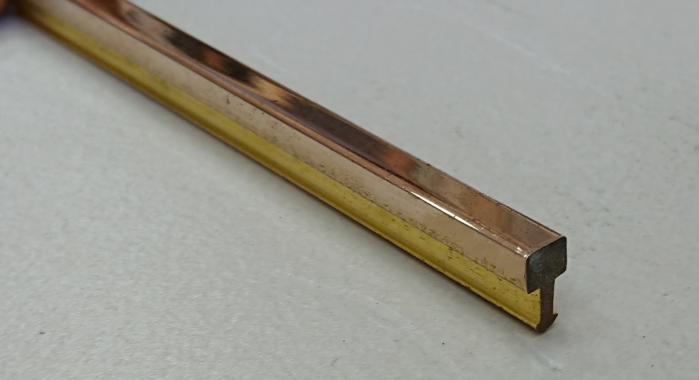 Профиль Т-образный латунный ЛТ-5 (Латунь полированная)