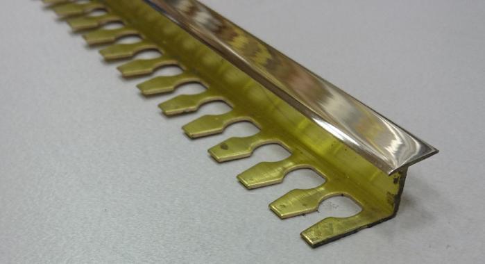 Профиль Z-образный латунный ЛZT-10 (Латунь полированная)