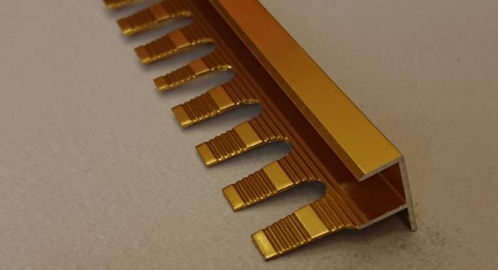 Профиль алюминиевый F-образный AF-12 (Золото глянцевое)