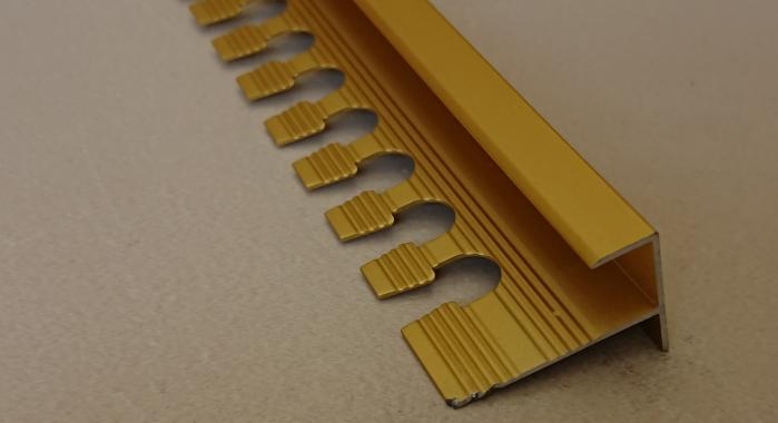 Профиль алюминиевый F-образный AF-10 (Золото матовое)