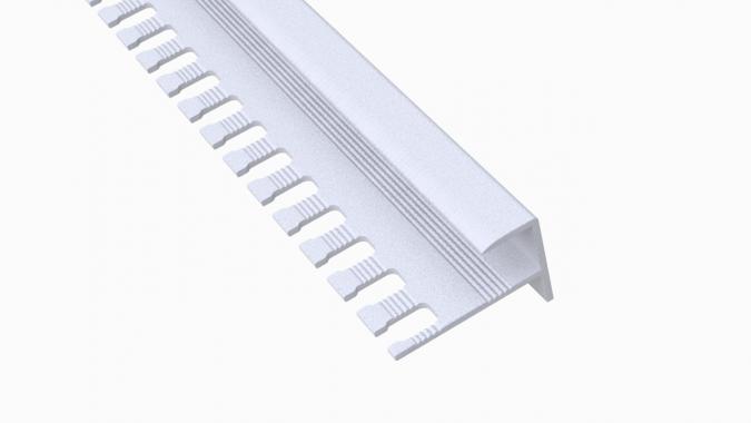 Профиль алюминиевый F-образный AF-10 (Белый матовый (эмаль)