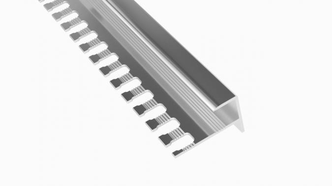 Профиль алюминиевый F-образный AF-12 (Серебро глянцевое)