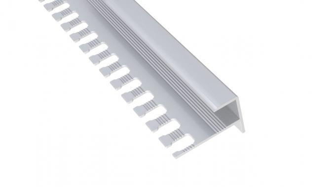 Профиль алюминиевый F-образный AF-12 (Серебро матовое)
