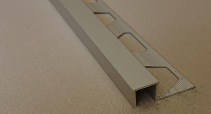Профиль алюминиевый П-образный AП-12*12 (Серебро матовое)