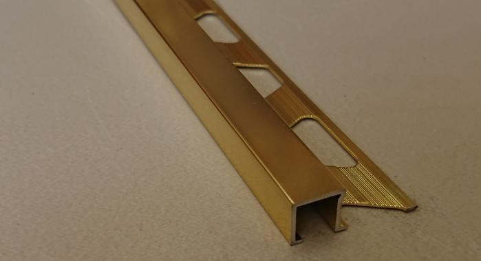 Профиль алюминиевый П-образный AП-12*12 (Золото глянцевое)