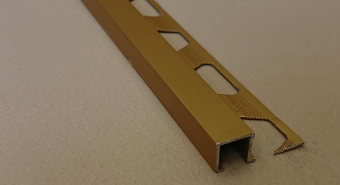 Профиль алюминиевый П-образный AП-10*10 (Золото матовое)
