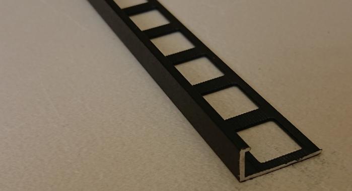 Профиль алюминиевый Г-образный AП-10 (Черный матовый (эмаль)
