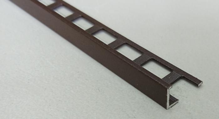 Профиль алюминиевый Г-образный AП-10 (Коричневый матовый (эмаль)