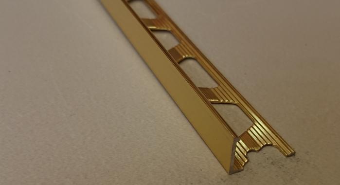 Профиль алюминиевый Г-образный AП-12 (Золото глянцевое)