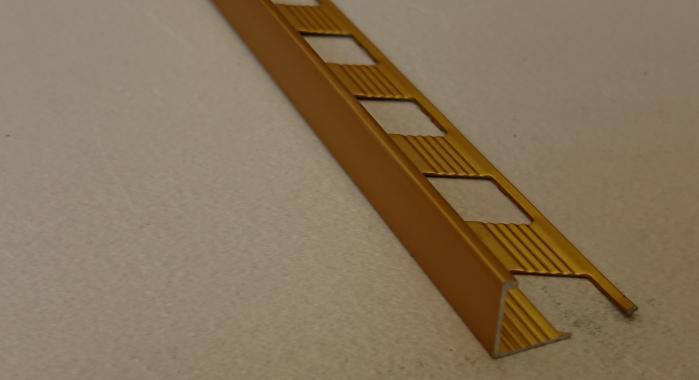 Профиль алюминиевый Г-образный AП-6 (Золото матовое)