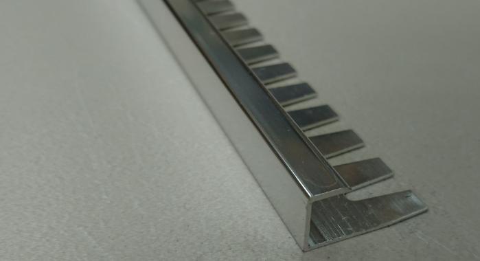 Профиль алюминиевый П-образный AZП-10 (Серебро глянцевое)