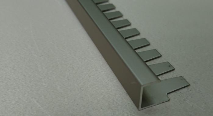 Профиль алюминиевый П-образный AZП-10 (Шампань матовая)