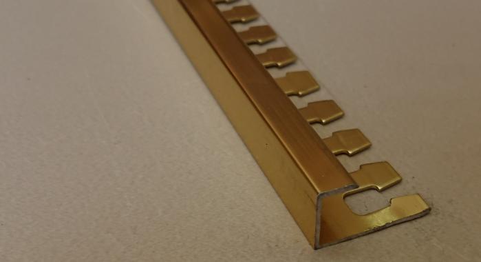 Профиль алюминиевый П-образный AZП-10 (Золото глянцевое)