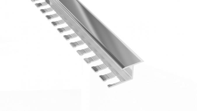 Профиль Z-образный алюминиевый AZT-10 (Серебро глянцевое)