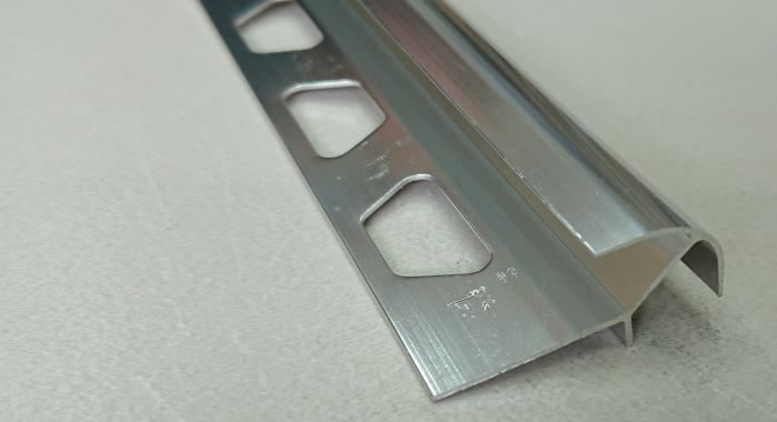 Профиль алюминиевый наружный НAП-12*12 (Серебро глянцевое)