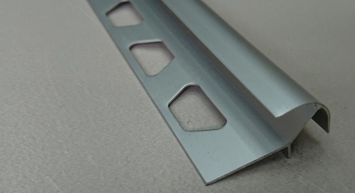 Профиль алюминиевый наружный НAП-10*10 (Серебро матовое)