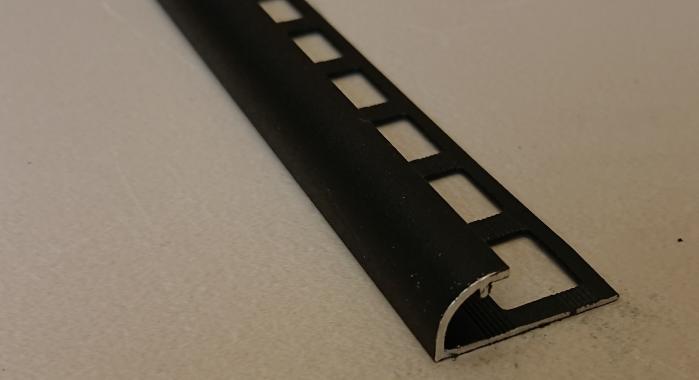 Профиль алюминиевый наружный НAП-12 (Черный матовый (эмаль)