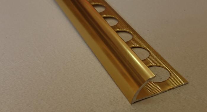 Профиль алюминиевый наружный НAП-8 (Золото глянцевое)