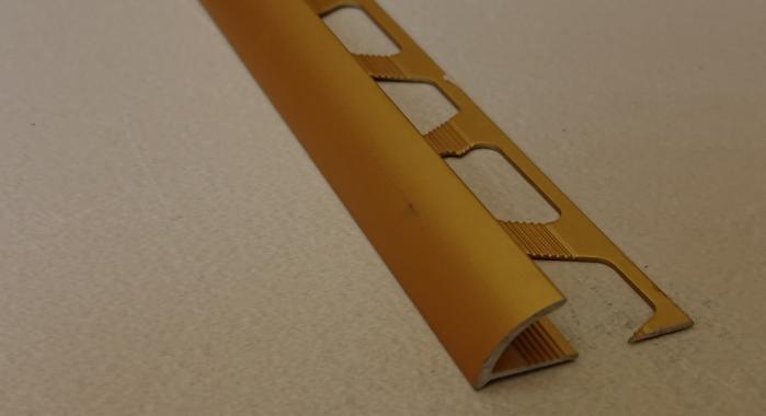 Профиль алюминиевый наружный НAП-10 (Золото матовое)