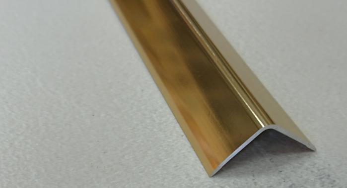 Угол алюминиевый ПА-30*30 (Золото глянцевое)