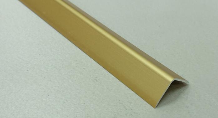 Угол алюминиевый ПА-20*20 (Золото матовое)