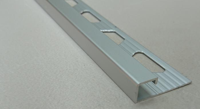Профиль алюминиевый П-образный закладной Progress Profiles PJQAA 10 (Серебро матовое)