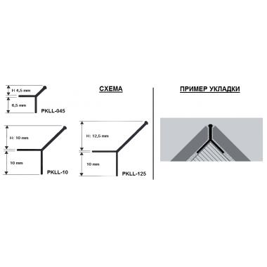 Профиль алюминиевый Y-образный закладной Progress Profiles PKLLBC 10 (Серебро глянцевое)