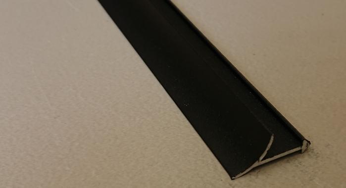 Профиль алюминиевый внутренний ВАП (Черный матовый (эмаль)
