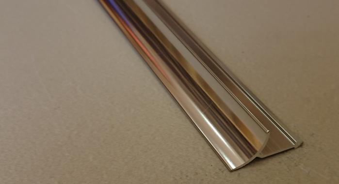 Профиль алюминиевый внутренний ВАП (Серебро глянцевое)