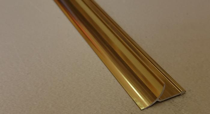 Профиль алюминиевый внутренний ВАП (Золото глянцевое)