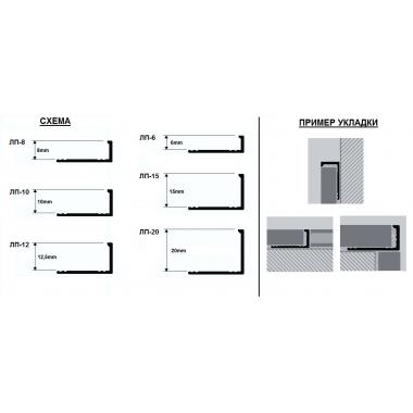 Профиль латунный Г-образный ЛП-20 (Латунь хромированная)
